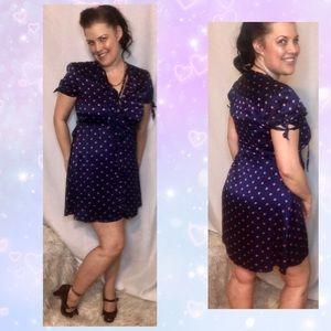 Tommy Hilfiger silk polka dot dress with ruffle